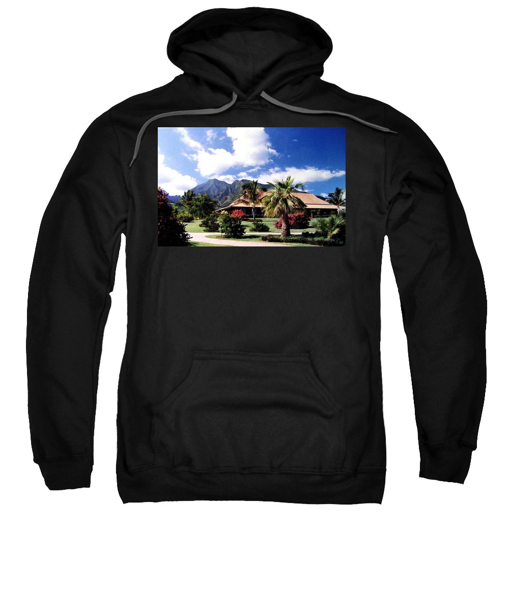 1986 Sweatshirt featuring the photograph Tropical Plantation by Will Borden
