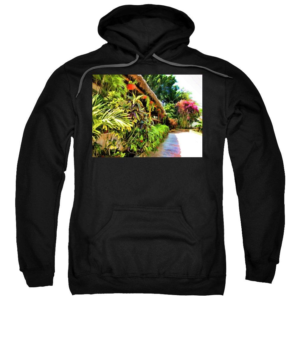 Grass Gazebo Sweatshirt featuring the photograph Tropical Splendor by Douglas Barnard