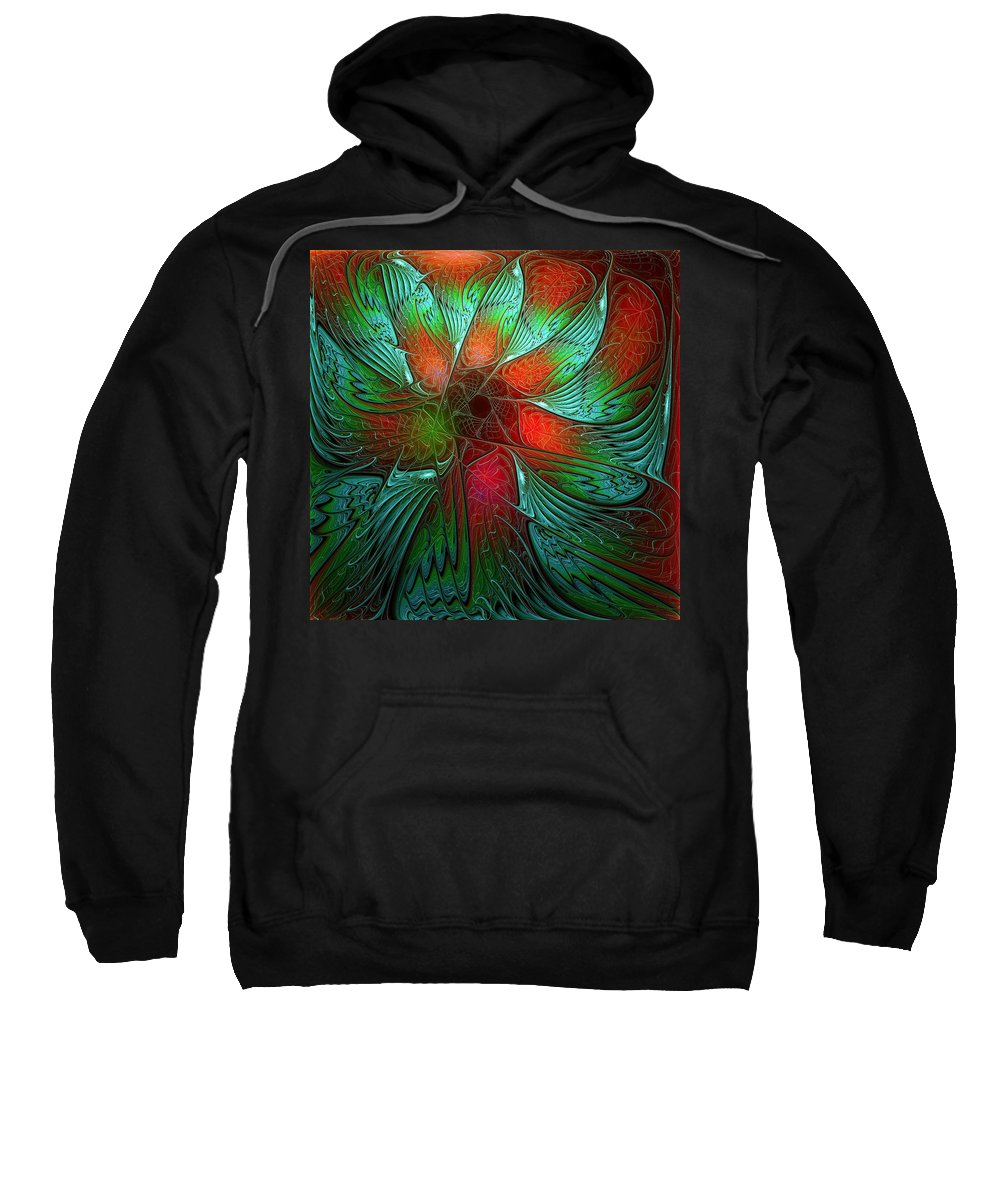 Digital Art Sweatshirt featuring the digital art Tropical Tones by Amanda Moore