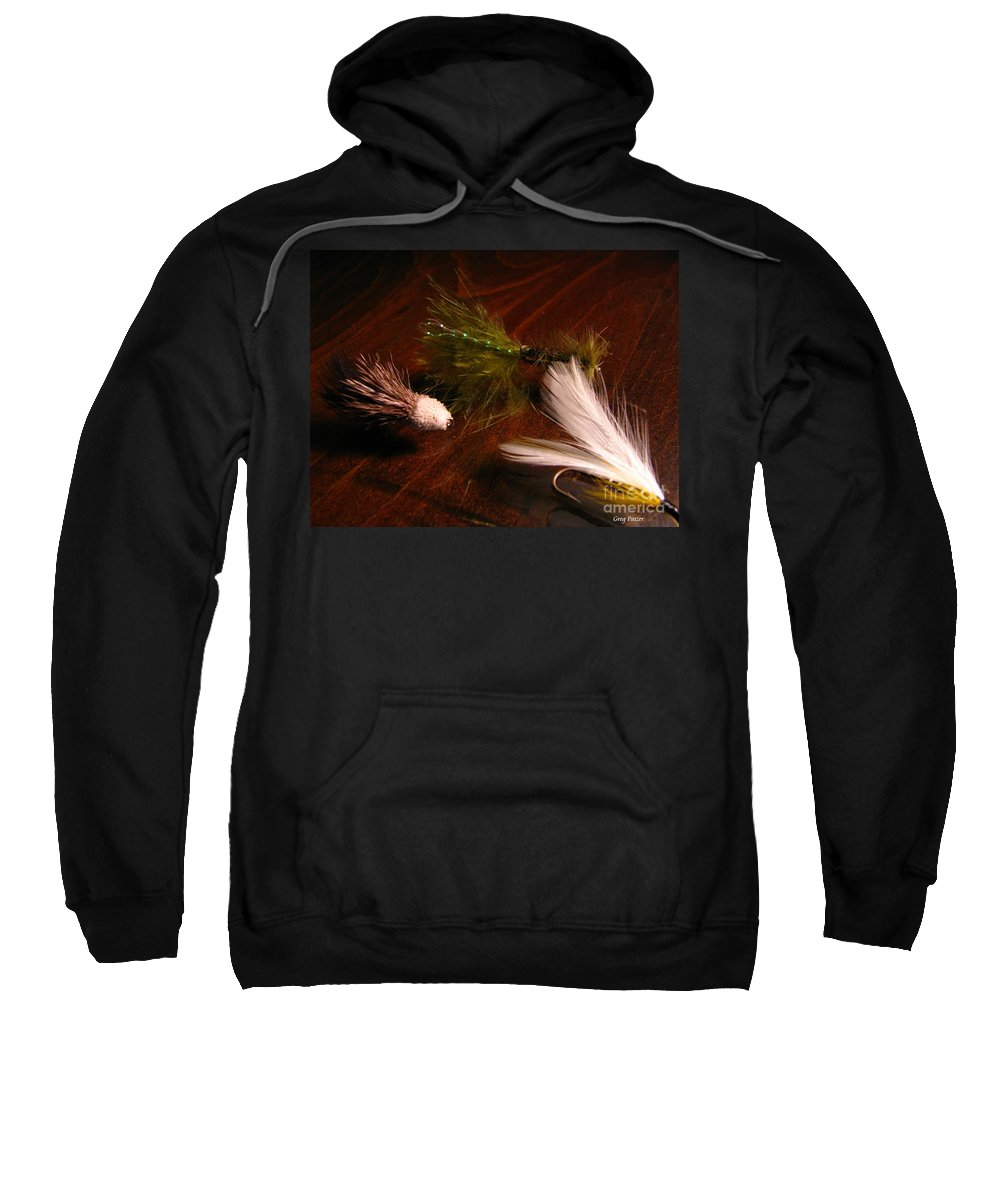 Patzer Sweatshirt featuring the photograph Trout Flys by Greg Patzer