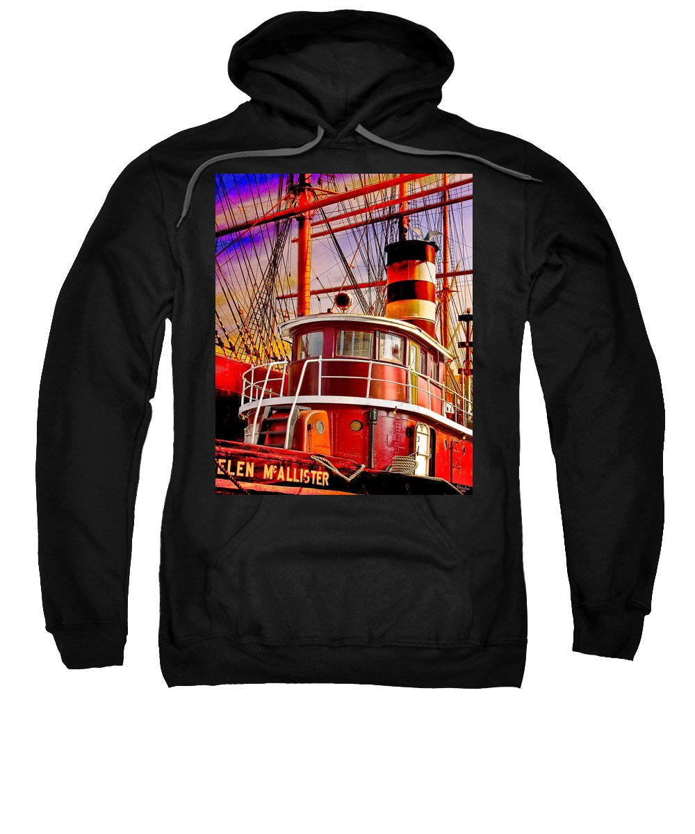 Tugboat Sweatshirt featuring the photograph Tugboat Helen Mcallister by Chris Lord