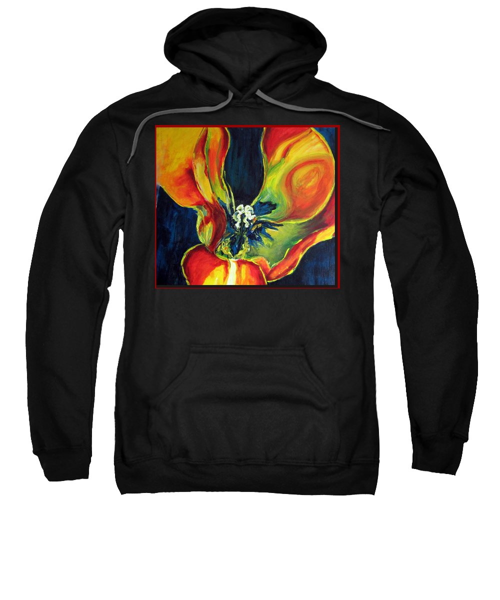 Tulip Sweatshirt featuring the painting Tulip by Dragica Micki Fortuna