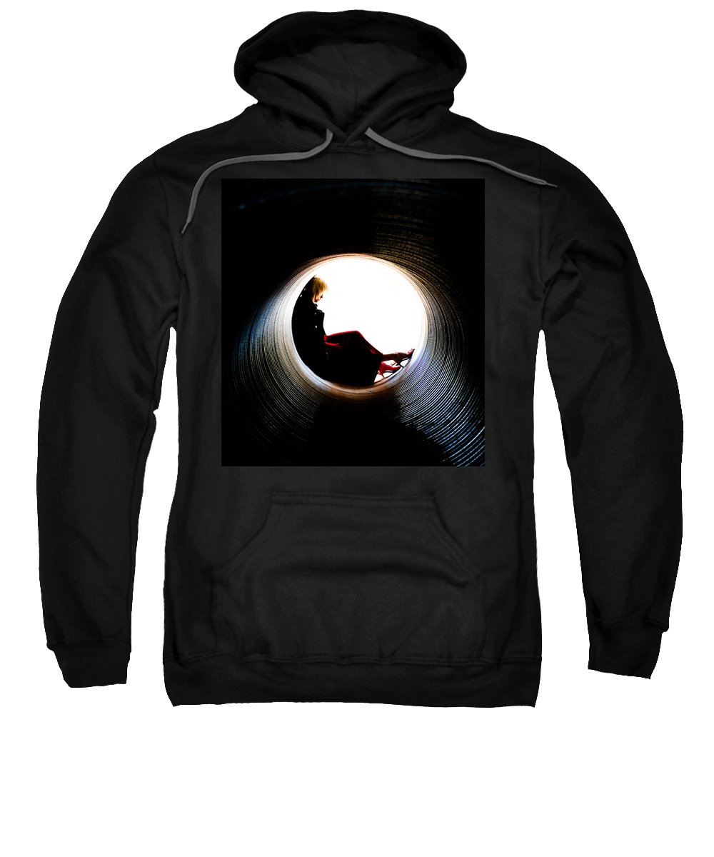 Woman Sweatshirt featuring the photograph Tunnel by Scott Sawyer
