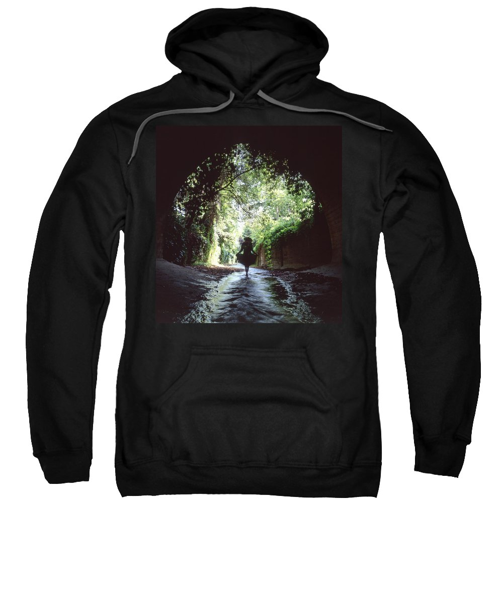 Peaceful Sweatshirt featuring the photograph Tunnel Walk by Steve Williams