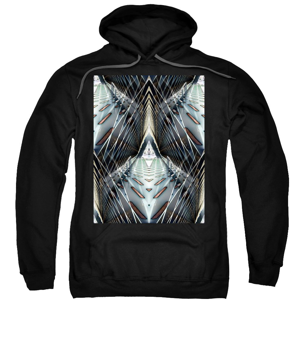 Seattle Sweatshirt featuring the digital art Tunnels End by Tim Allen
