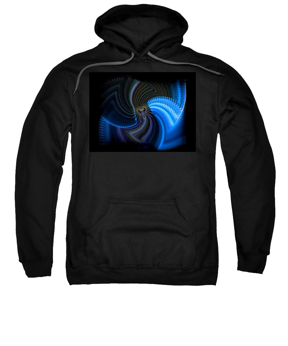 Chaos Sweatshirt featuring the photograph Turbine Dynamo by Charles Stuart