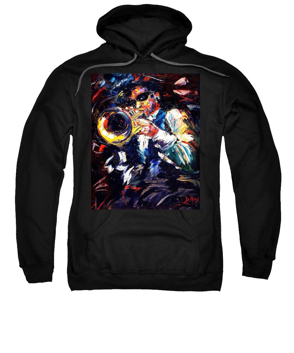 Jazz Sweatshirt featuring the painting Turnaround by Debra Hurd