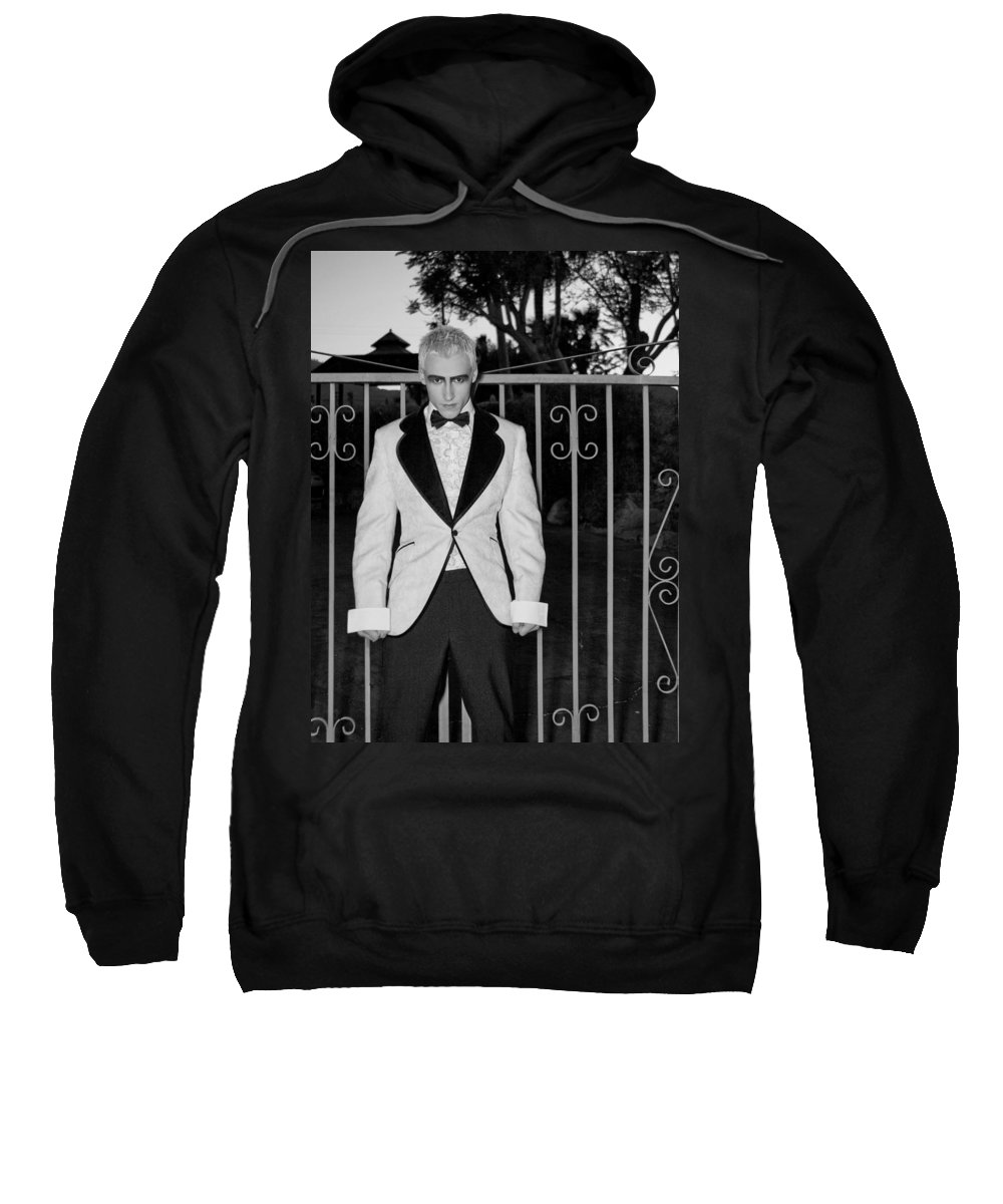Vampire Sweatshirt featuring the photograph Tuxedo Vampire by William Dey