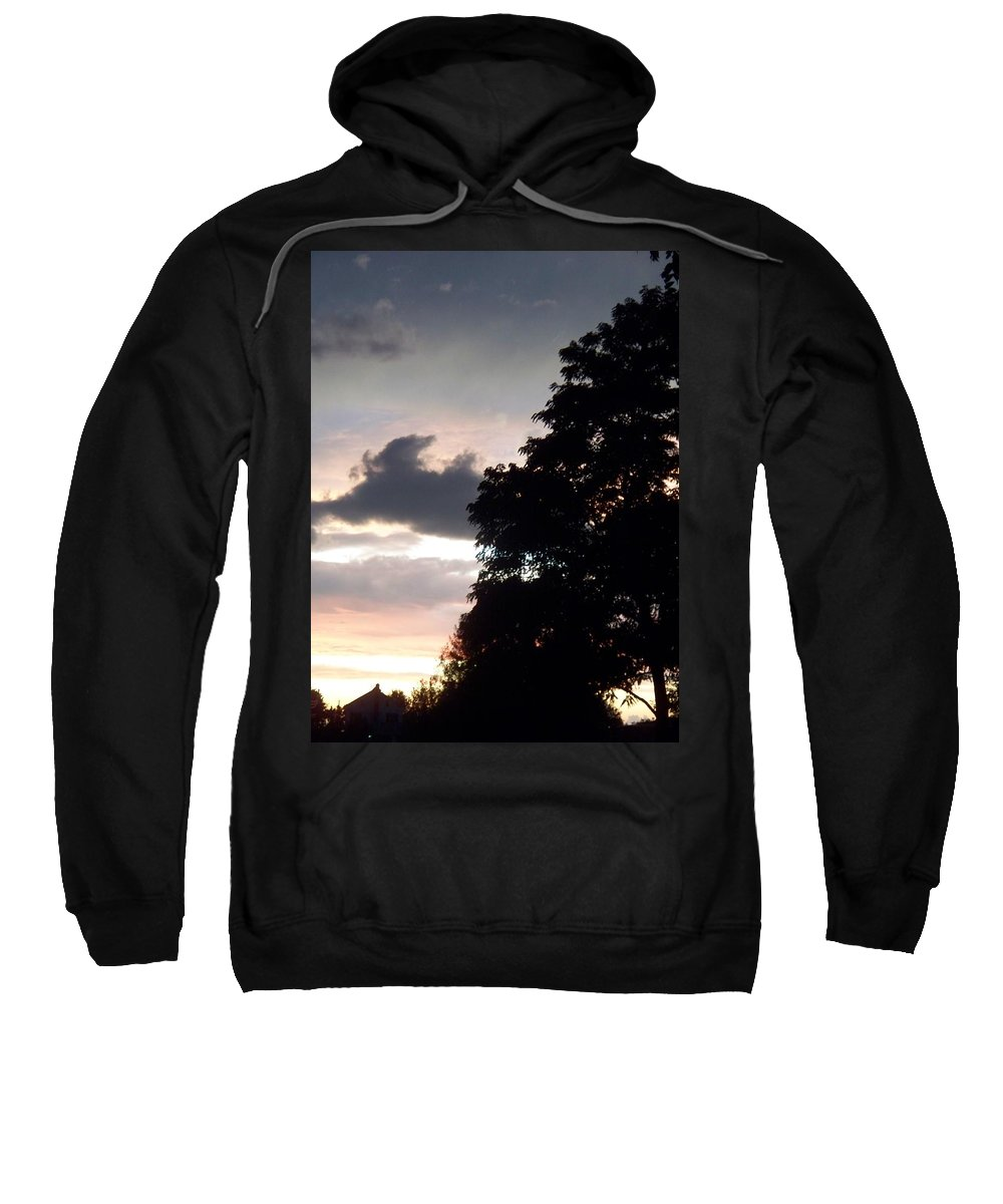 Twilight Sweatshirt featuring the painting Twilight Landscape by Eric Schiabor