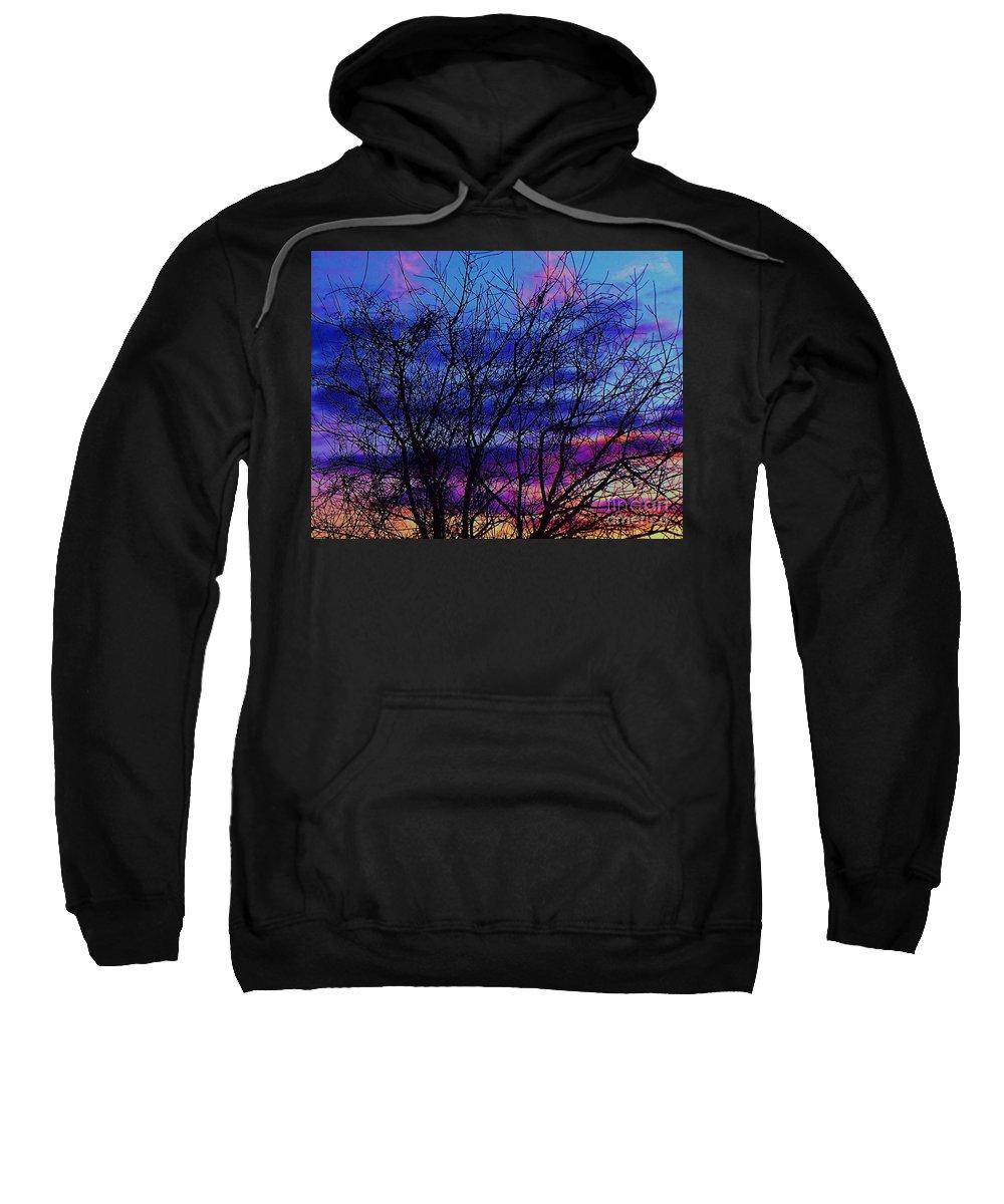 Twilight Sweatshirt featuring the painting Twilight Sunset by Eric Schiabor