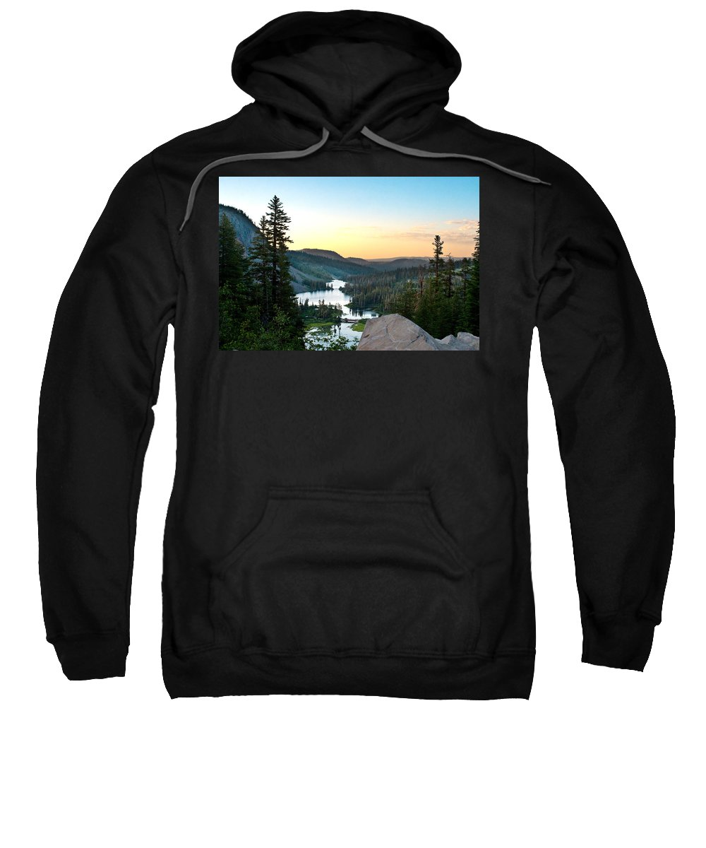 Twin Lakes Sweatshirt featuring the photograph Twin Lakes by Chris Brannen