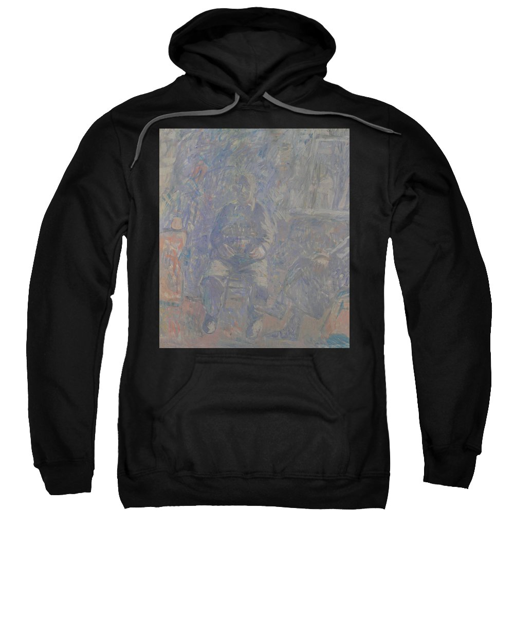 People Sweatshirt featuring the painting People by Robert Nizamov