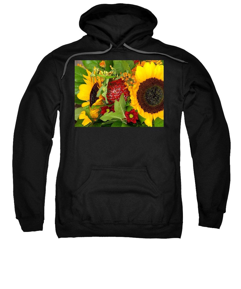 Sunflower Sweatshirt featuring the photograph Two Suns by Ian MacDonald