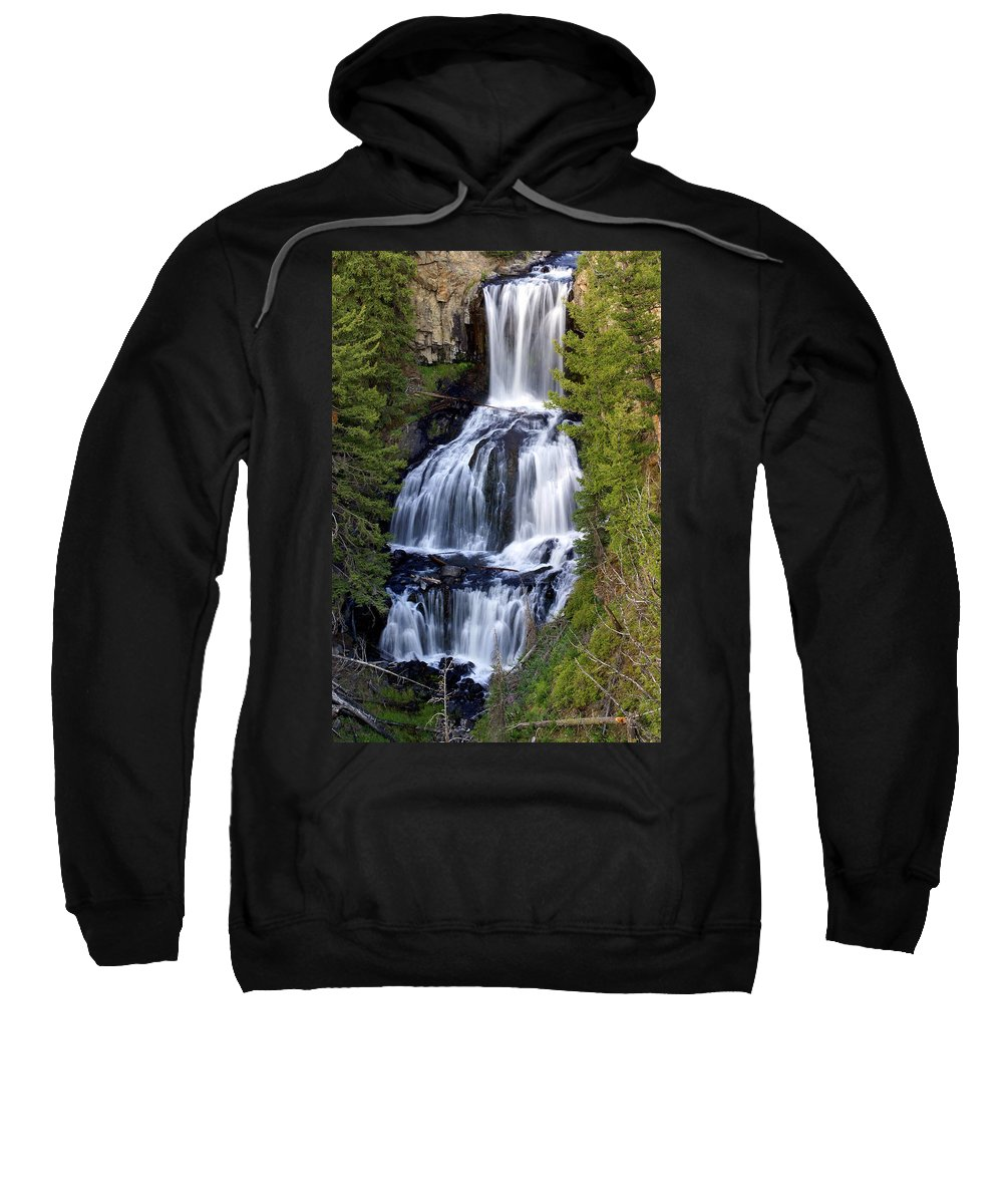 Udine Falls Sweatshirt featuring the photograph Udine Falls by Marty Koch