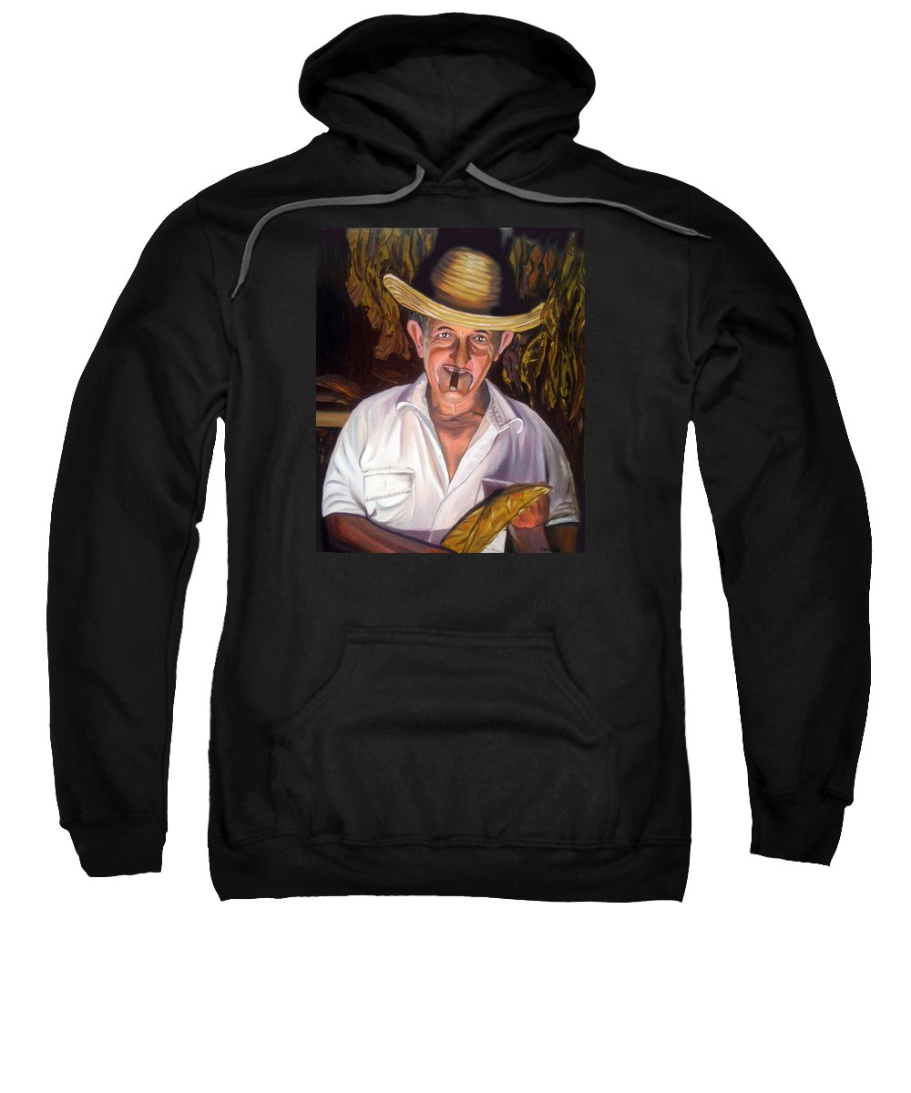 Cuban Art Sweatshirt featuring the painting Uncle Frank by Jose Manuel Abraham