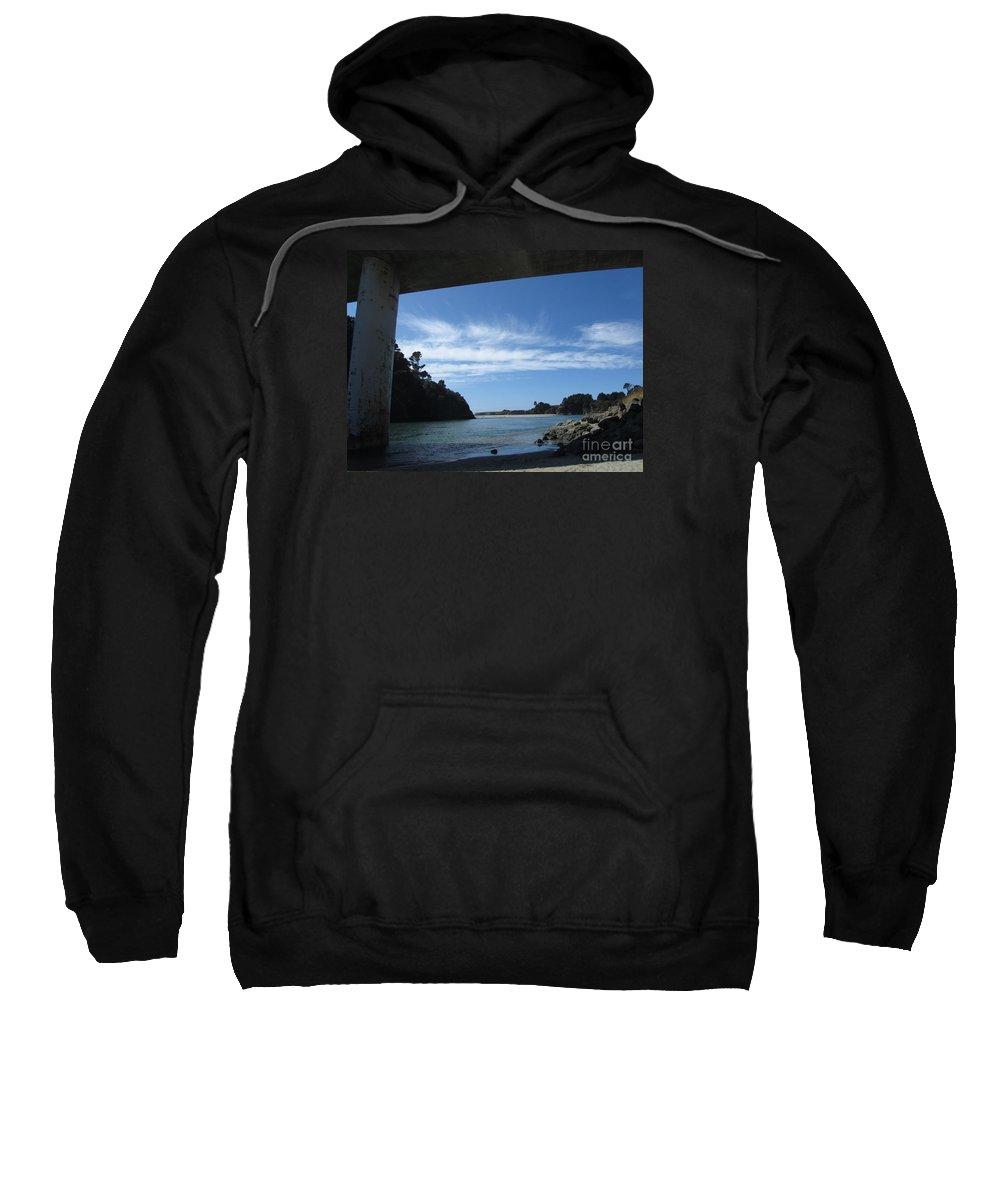 Ocean Sweatshirt featuring the photograph Under The Bridge by Cassandra Geernaert