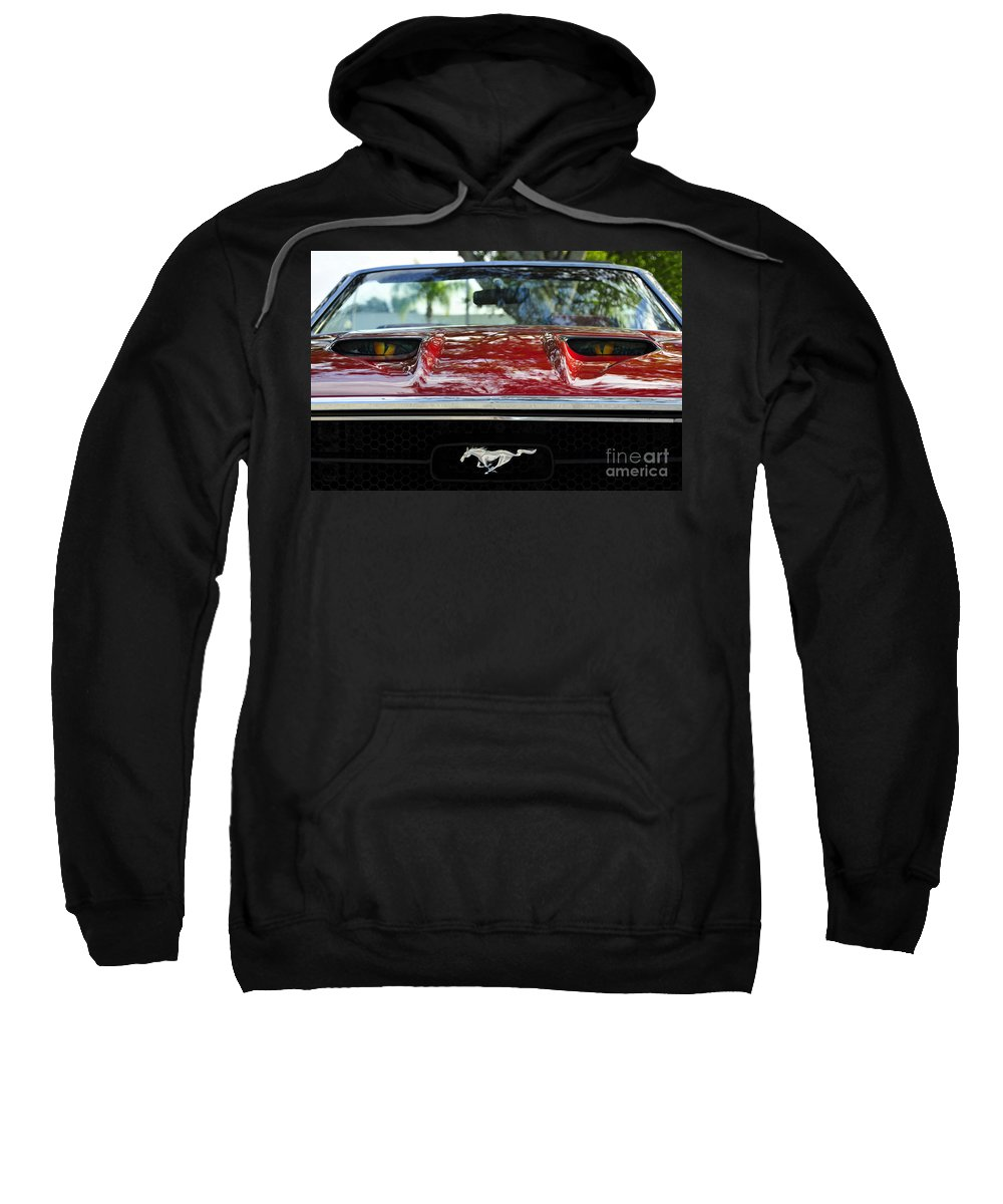 Classic Car Sweatshirt featuring the photograph Under The Hood by David Lee Thompson
