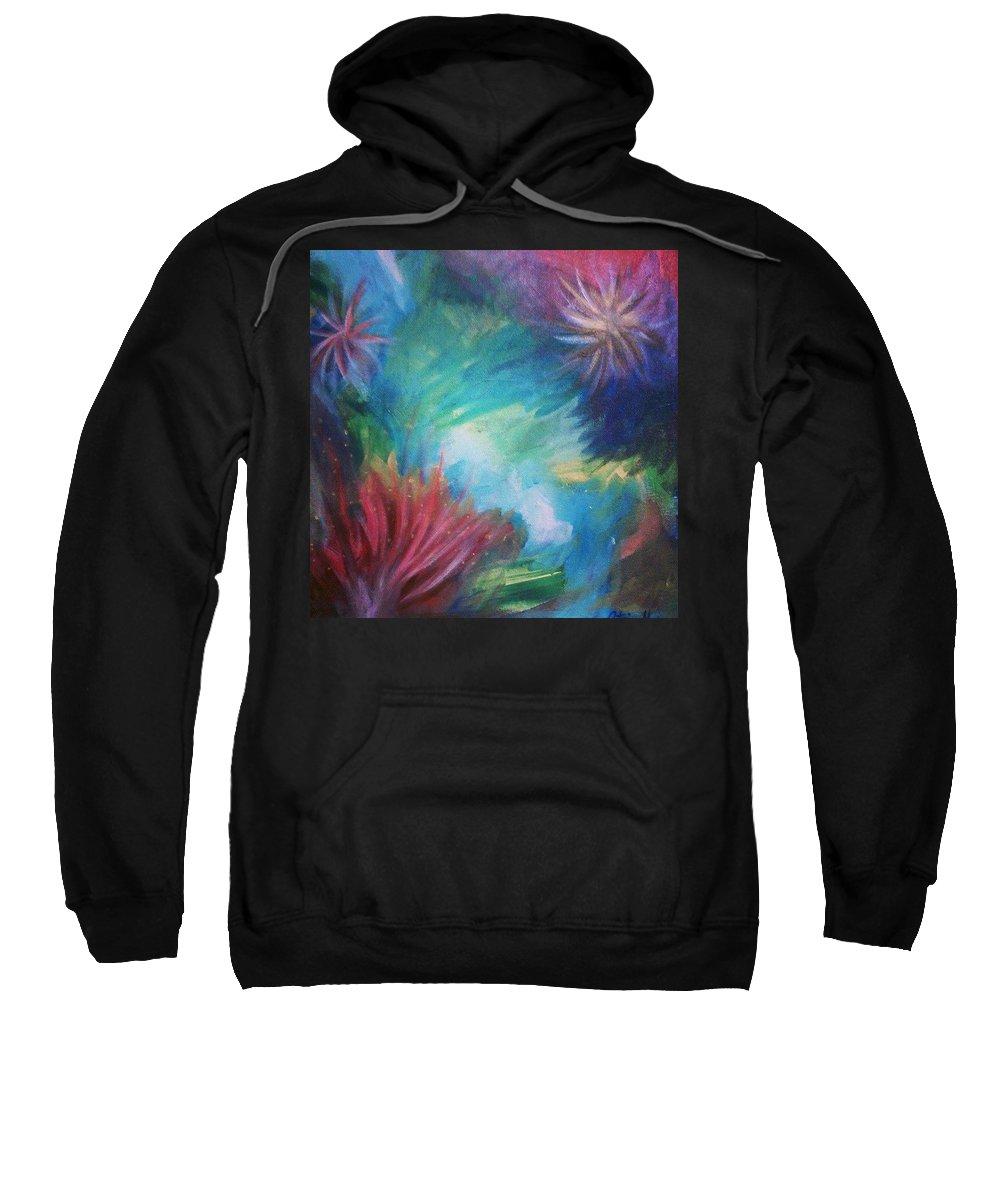 Acrylic Sweatshirt featuring the painting Under The Sea by Octavio Mora
