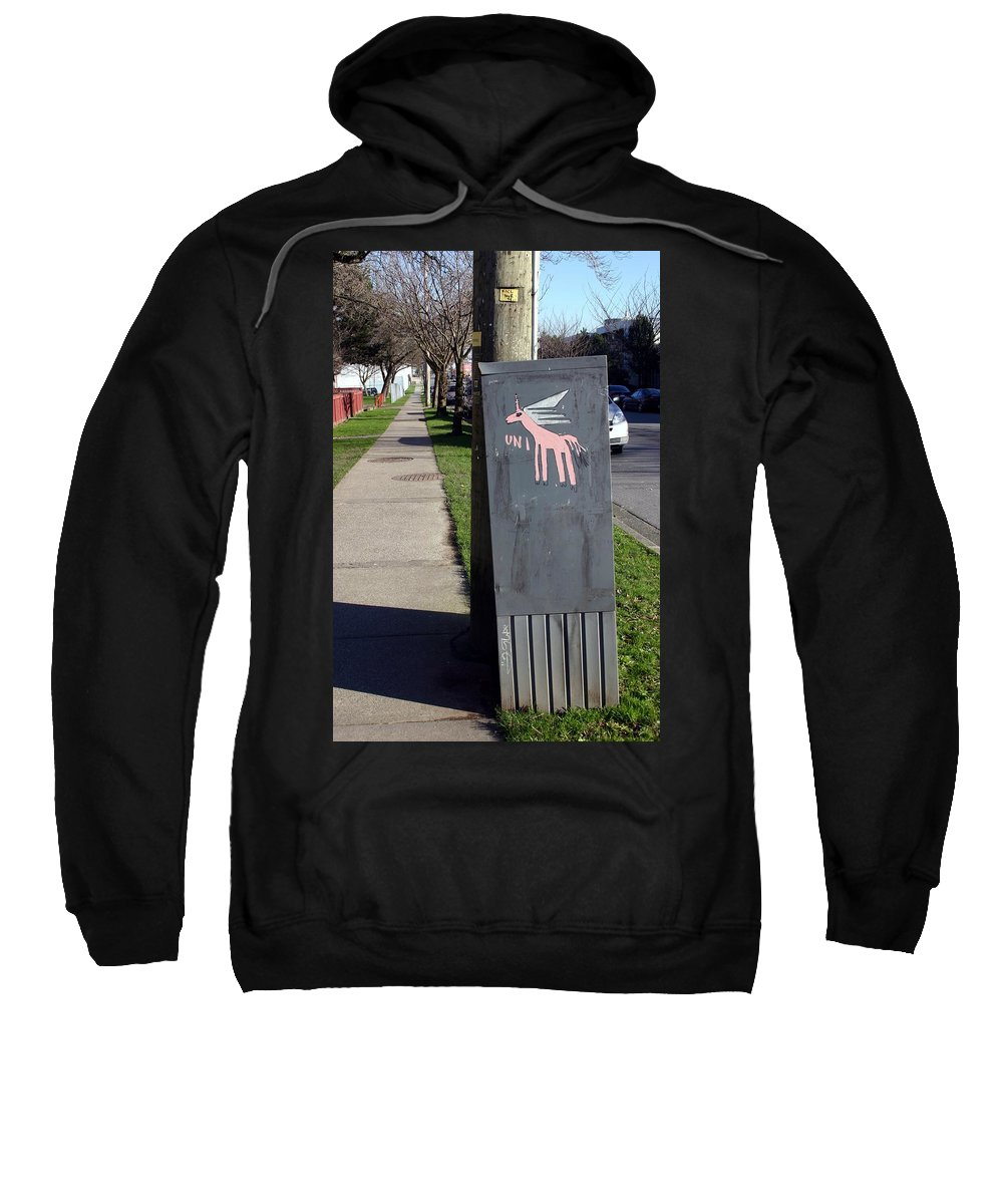 Mail Box Sweatshirt featuring the photograph Unicorn Mail Delivery by Minaz Jantz