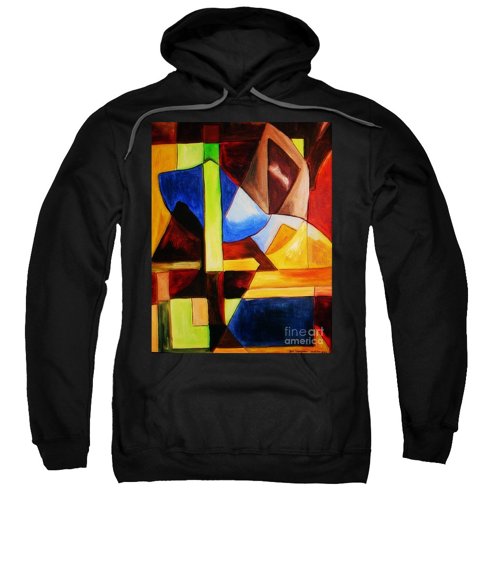 Acrylic Painting Sweatshirt featuring the painting Unity by Yael VanGruber