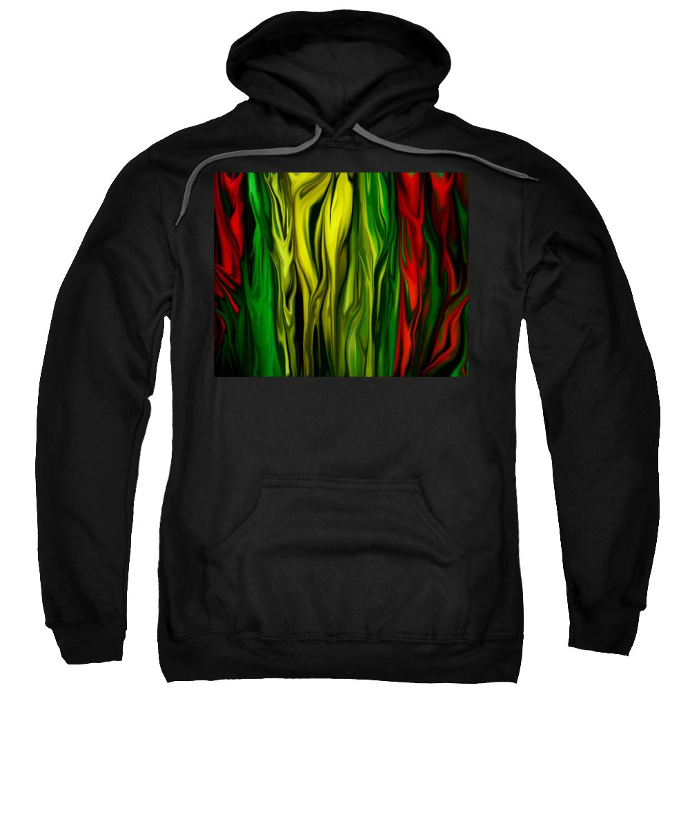 Digital Painting Sweatshirt featuring the digital art Untitled 01-31-10 by David Lane