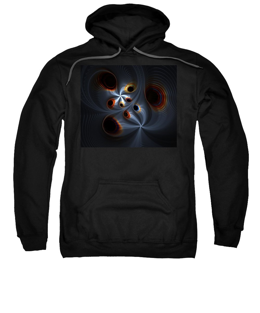 Digital Painting Sweatshirt featuring the digital art Untitled 02-06-10-a by David Lane
