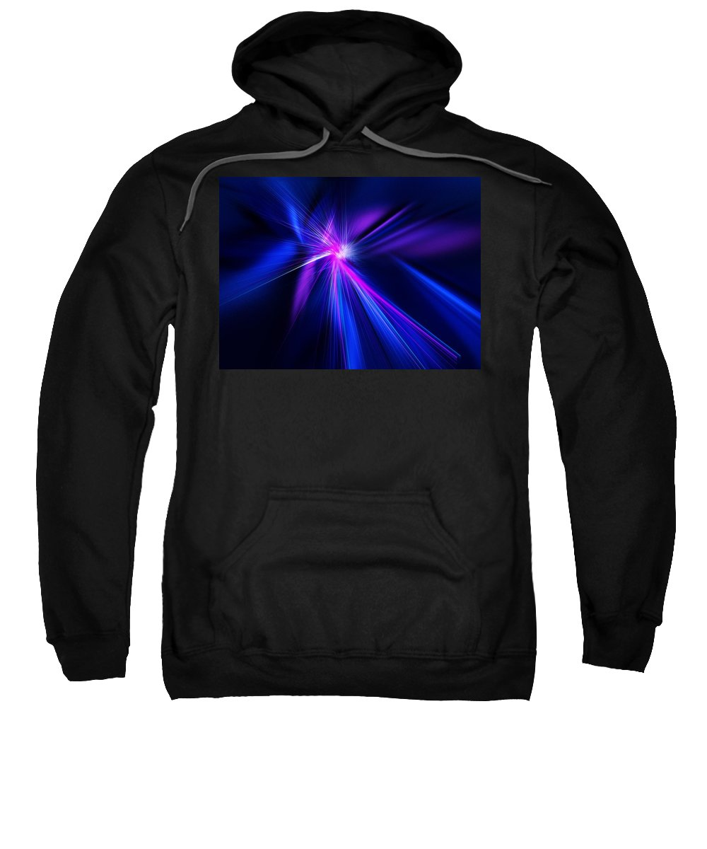 Abstract Digital Painting Sweatshirt featuring the digital art Untitled 11-18-09 by David Lane