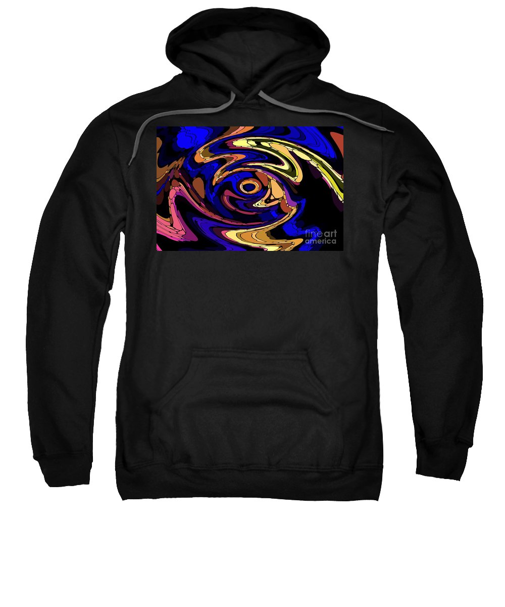 Abstract Sweatshirt featuring the digital art Untitled 7-04-09 by David Lane