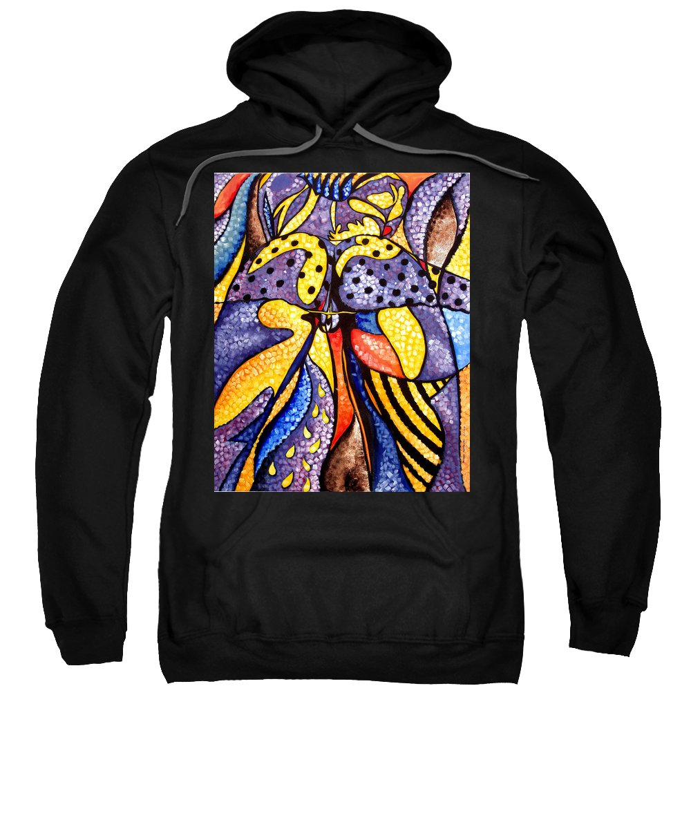 Abstract Sweatshirt featuring the painting Untitled by Che Hondo