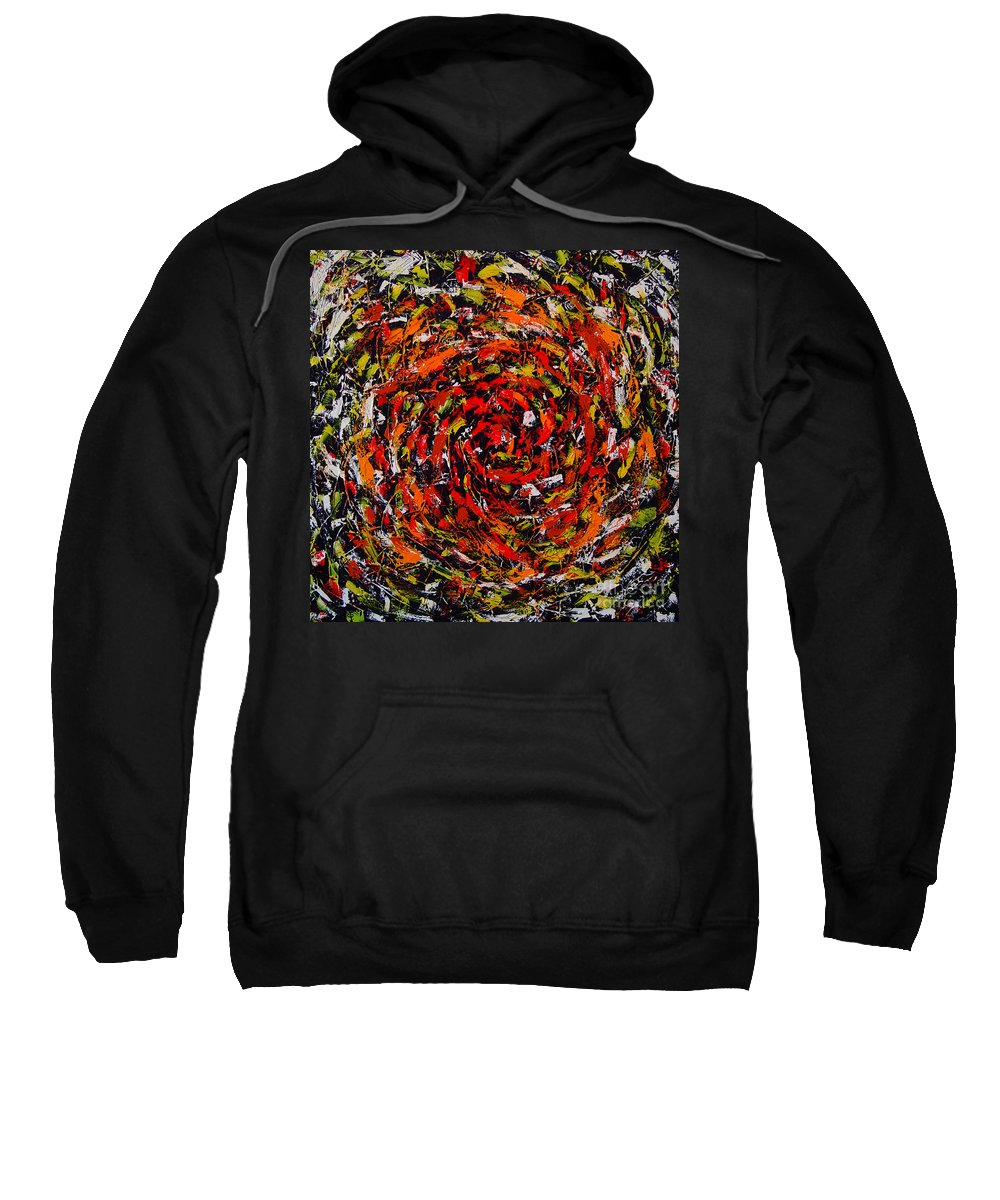 Abstract Sweatshirt featuring the painting Transitional Primary by Dean Triolo
