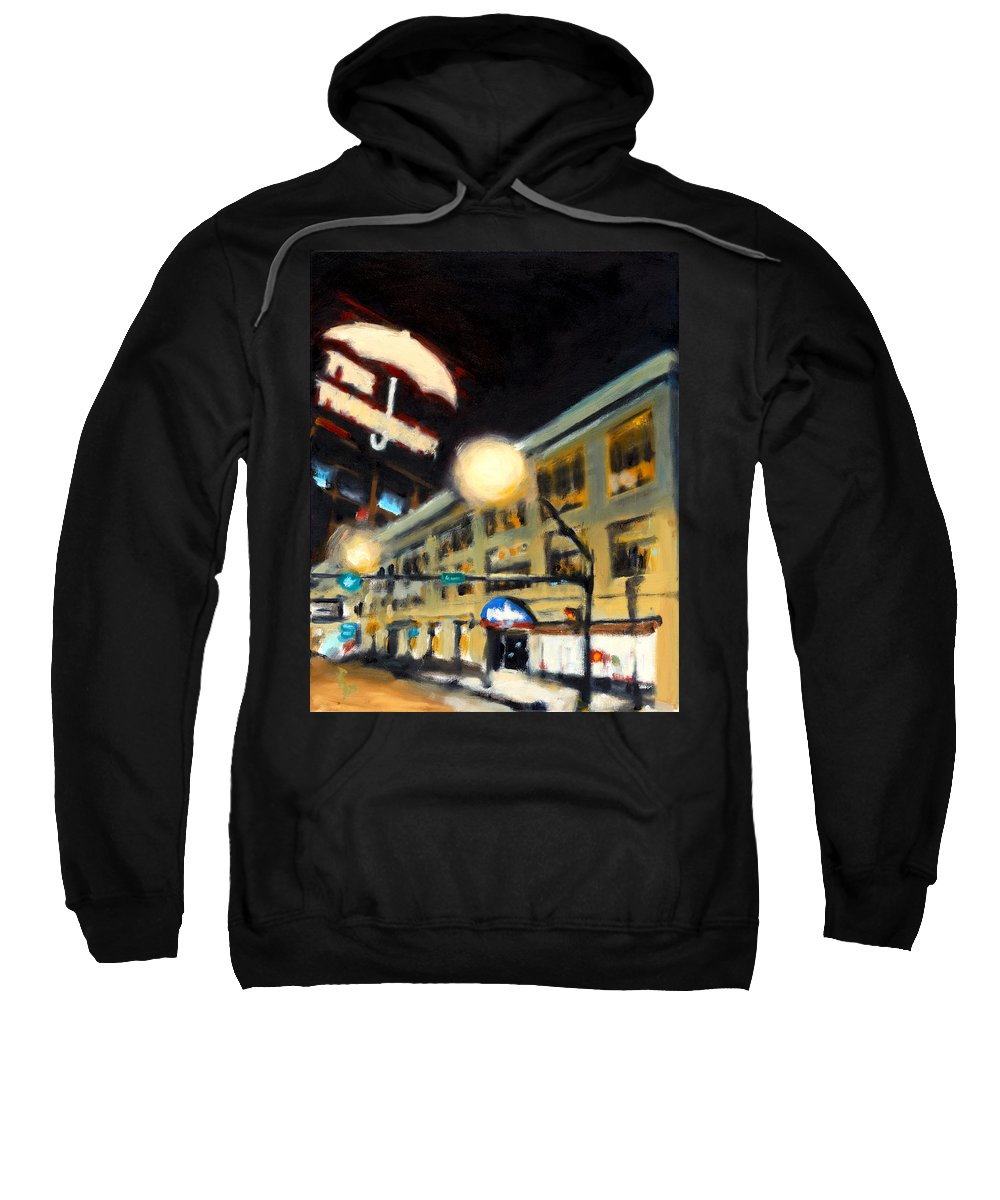 Rob Reeves Sweatshirt featuring the painting Untitled by Robert Reeves