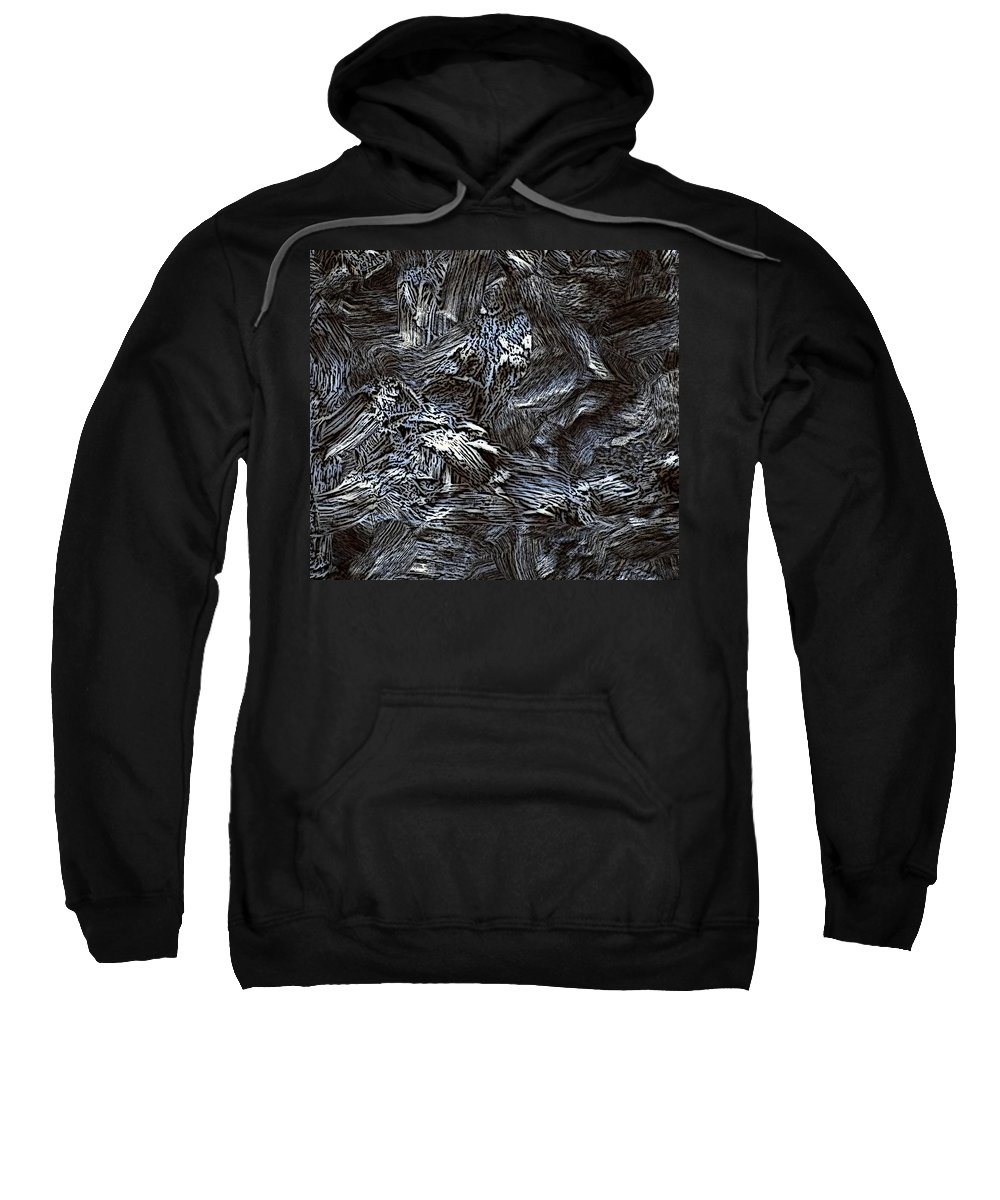Abstract Digital Painting Sweatshirt featuring the digital art Untitled11-14-09 by David Lane