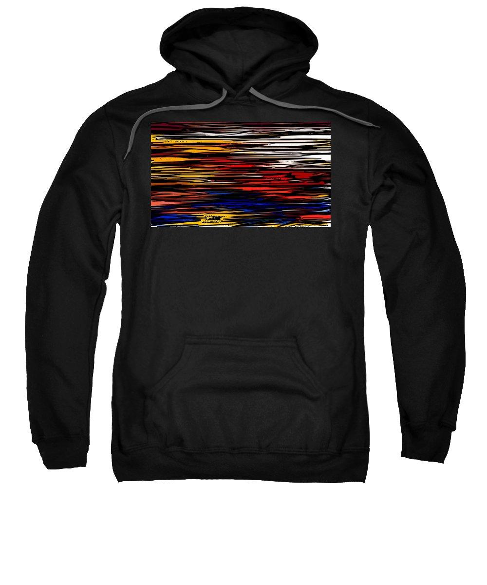 Abstract Digital Painting Sweatshirt featuring the digital art Untitled2 9-12-09 by David Lane