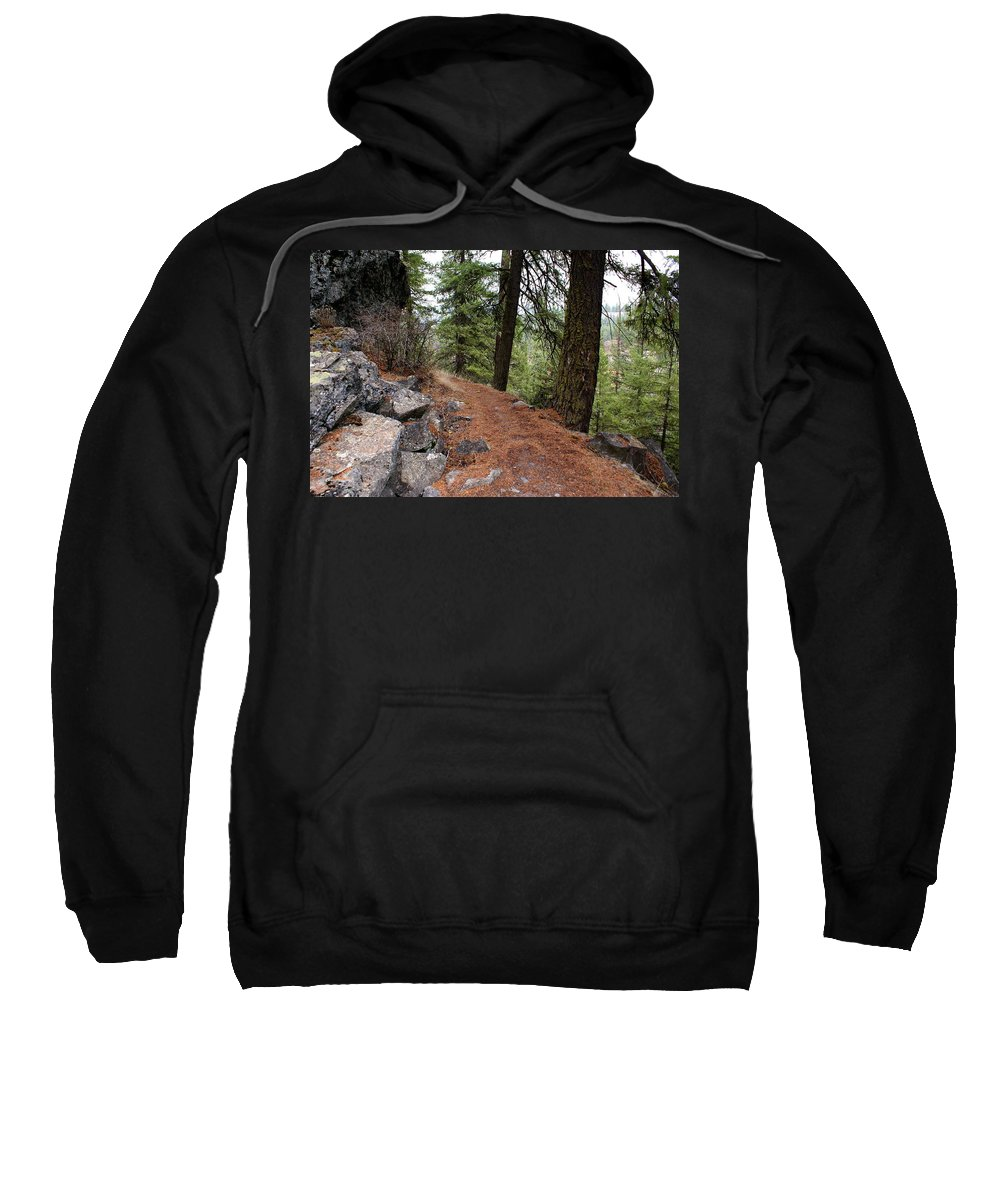 Nature Sweatshirt featuring the photograph Up Around The Bend... by Ben Upham III