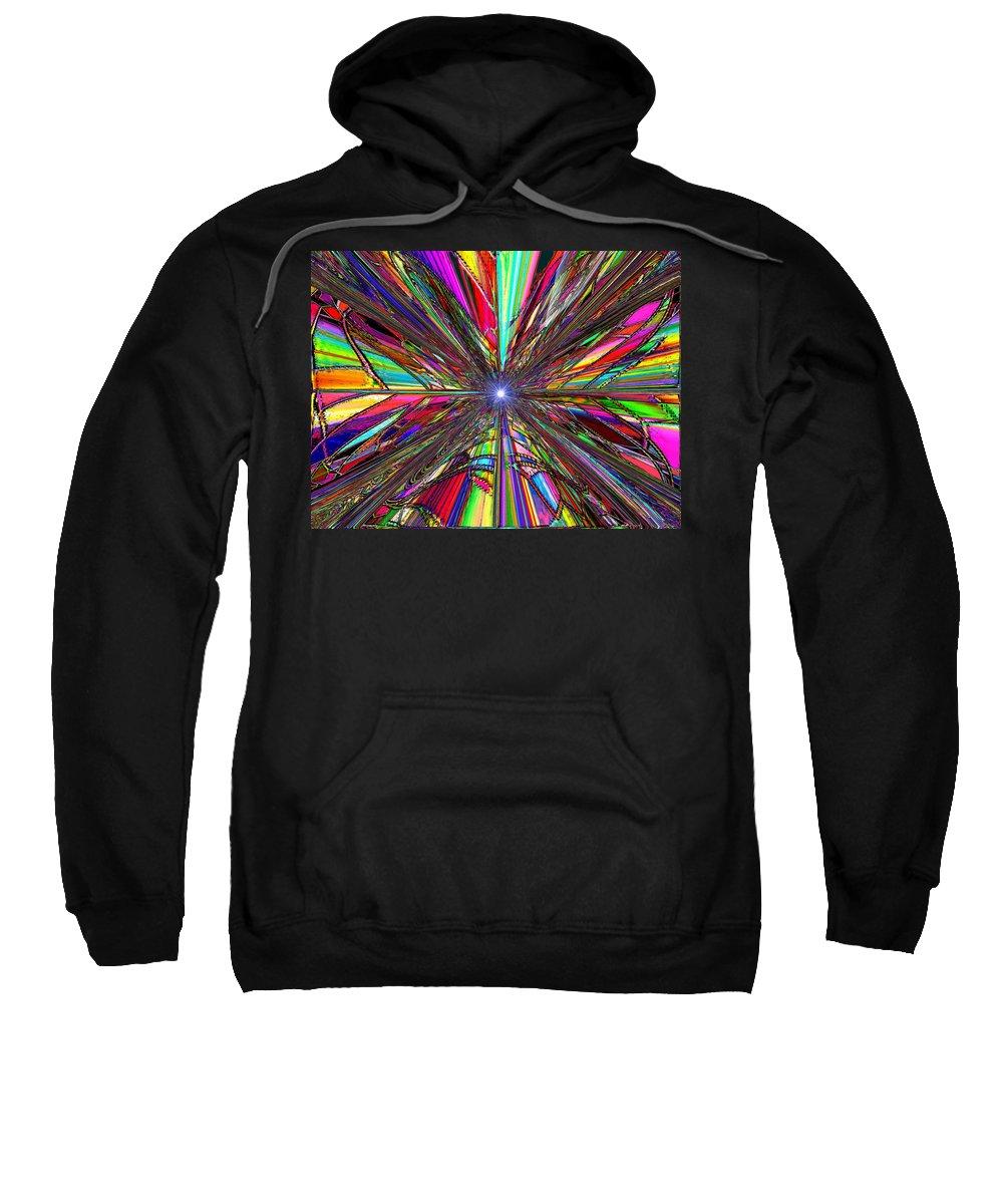 Up Sweatshirt featuring the digital art Up by Tim Allen