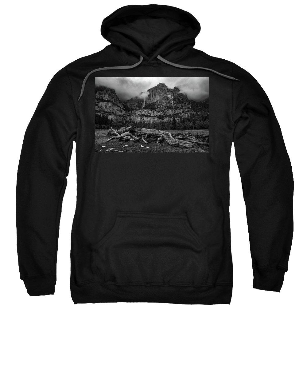 Landscape Sweatshirt featuring the photograph Upper And Lower Yosemite Falls by Khalid Mahmoud
