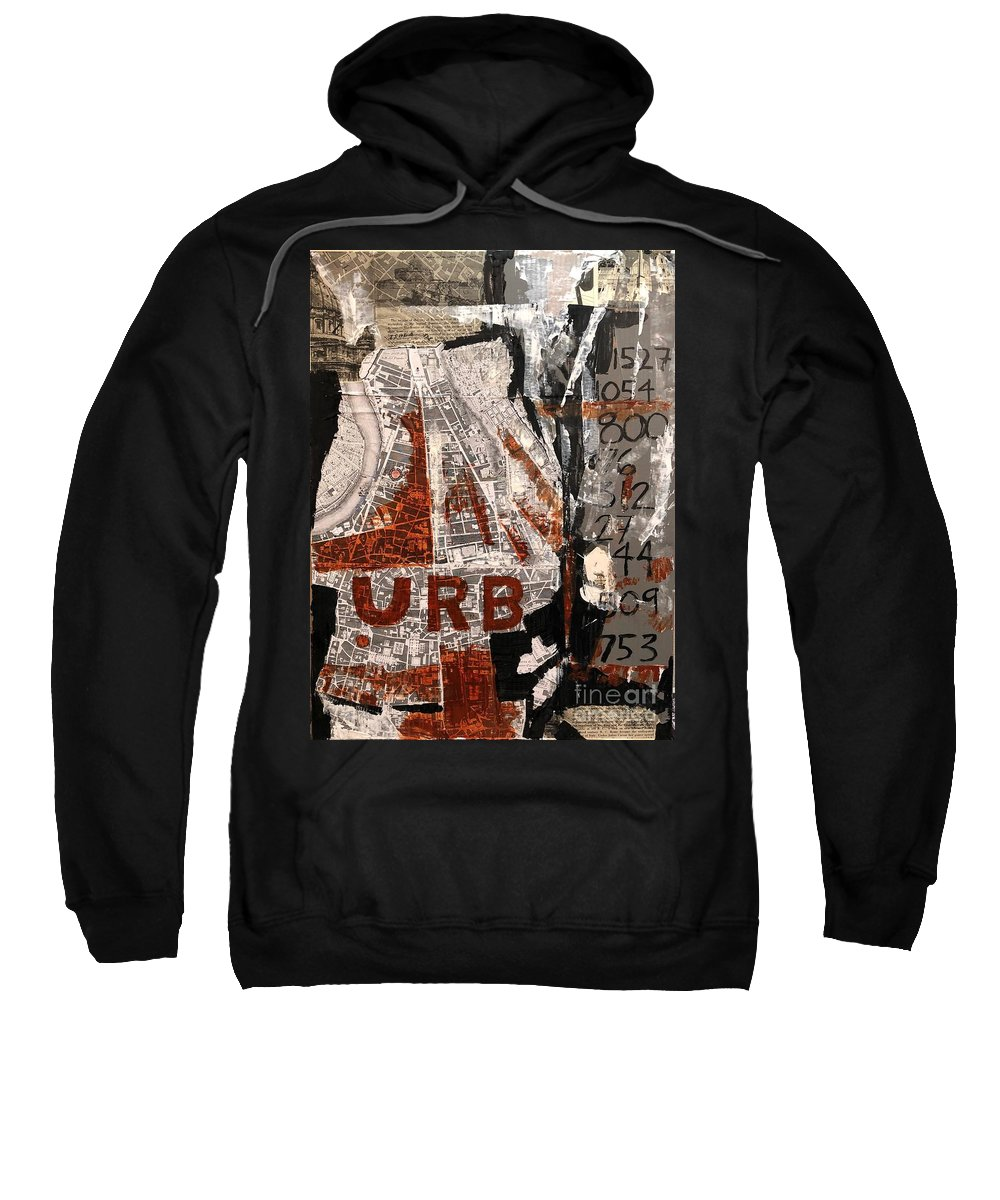 Collage Sweatshirt featuring the painting Urb 1 by Thomas Rankin
