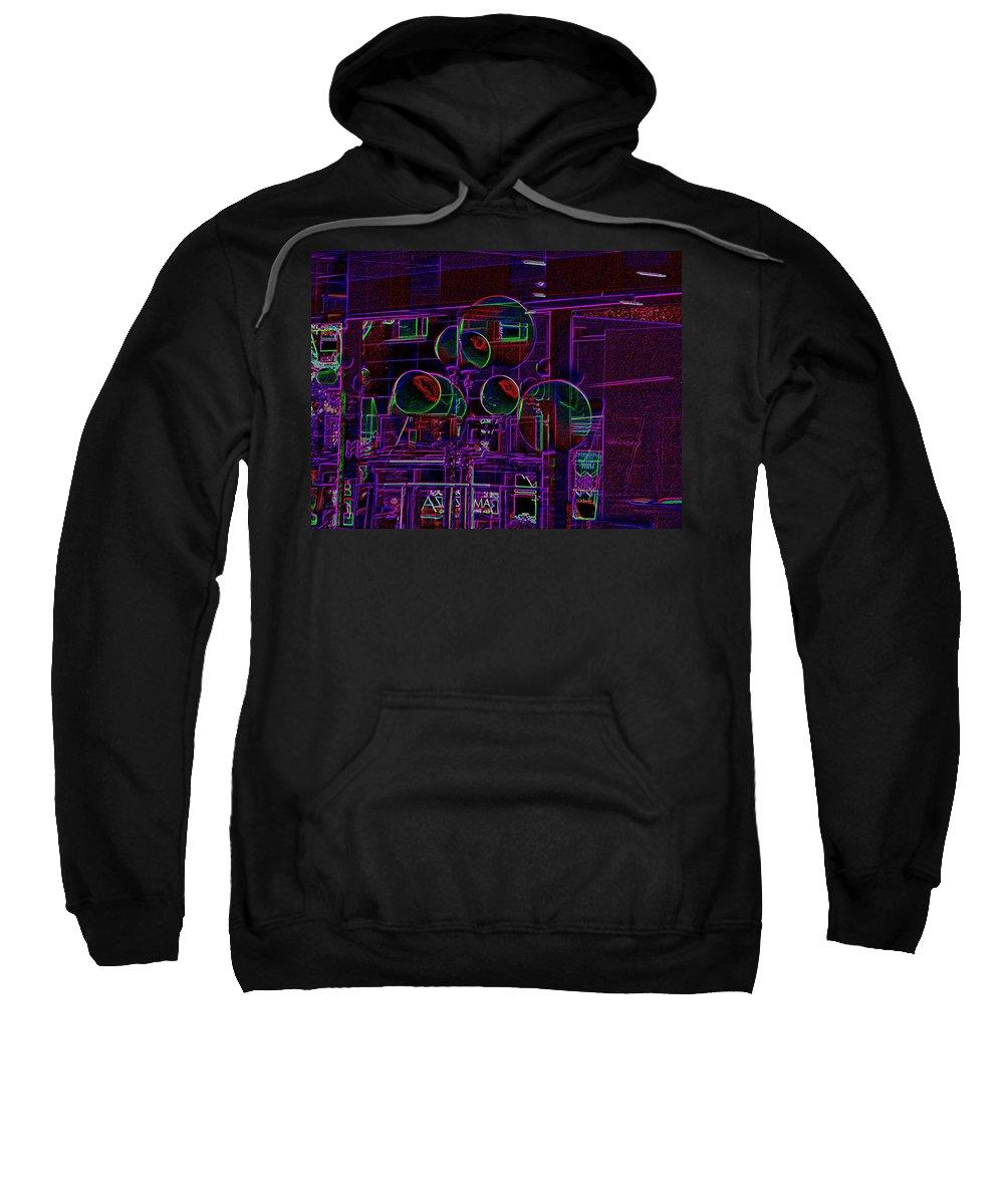 Street Sweatshirt featuring the digital art Urban Street Scene by Tim Allen