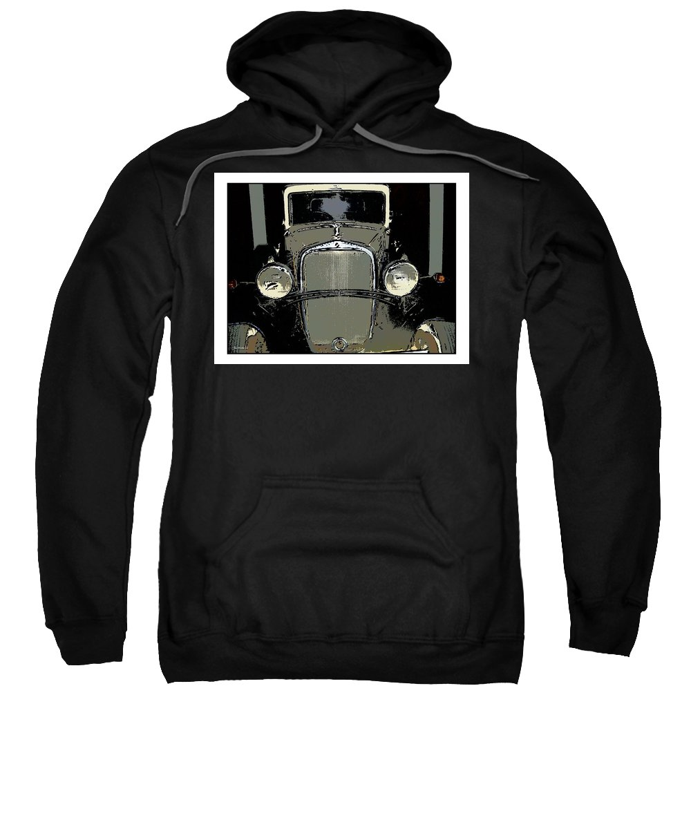 Auto Sweatshirt featuring the photograph Uruguay Auto by Joan Minchak