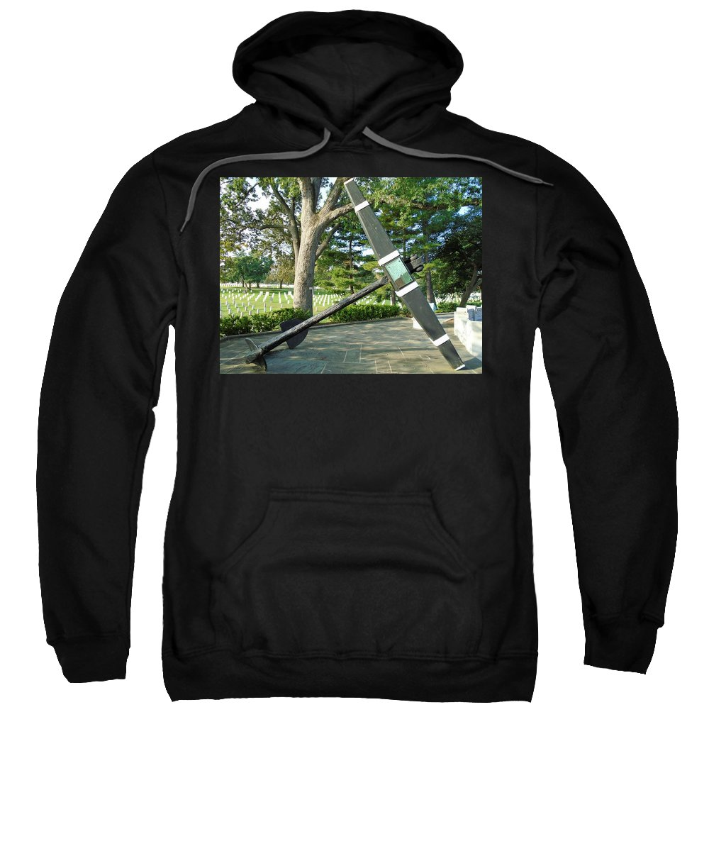Uss Maine Anchor Sweatshirt featuring the photograph Uss Maine Anchor by Anthony Schafer