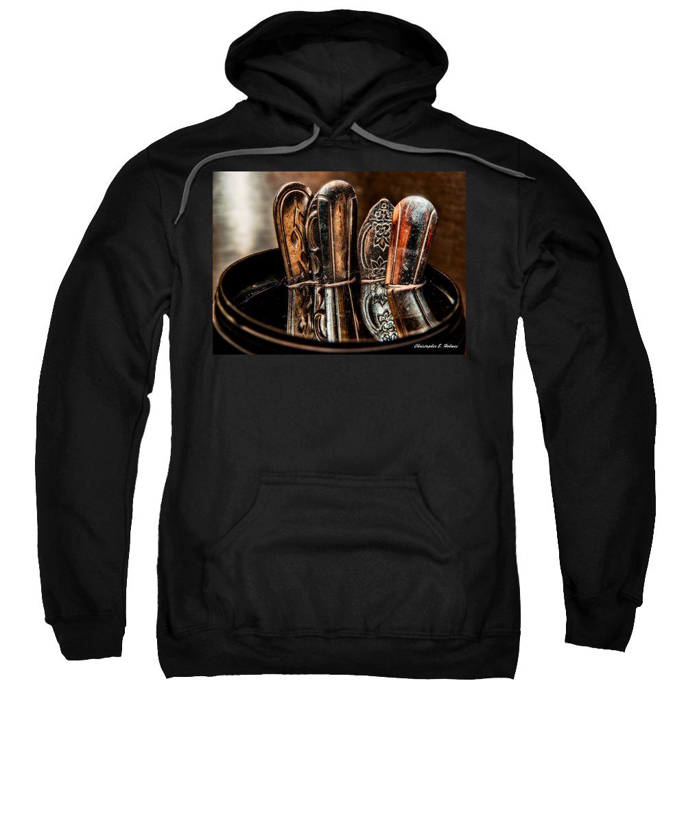 Utensils Sweatshirt featuring the photograph Utensils Reflected by Christopher Holmes