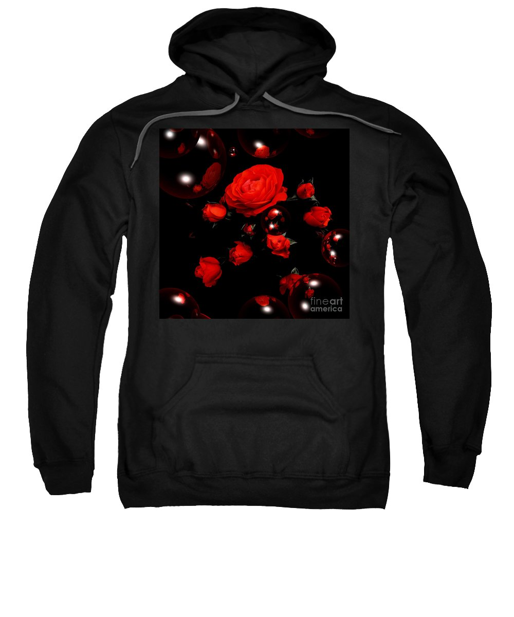 Valentines Day Roses Sweatshirt featuring the photograph Valentine - Roses by P Donovan