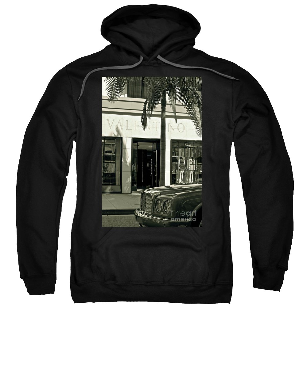 Valentino Sweatshirt featuring the photograph Valentino On Rodeo Drive by Gwyn Newcombe