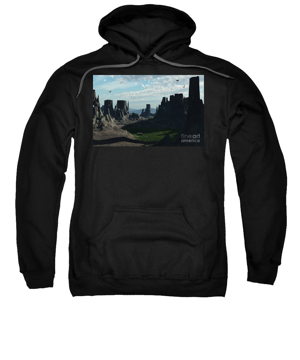 Valley Sweatshirt featuring the digital art Valley Of The Kings by Richard Rizzo
