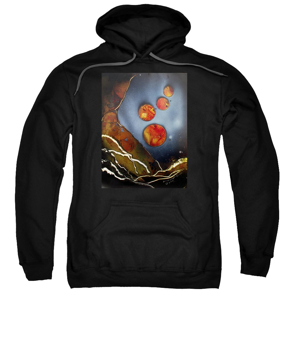 Galaxies Sweatshirt featuring the painting Valley Of The Moons by Arlene Wright-Correll