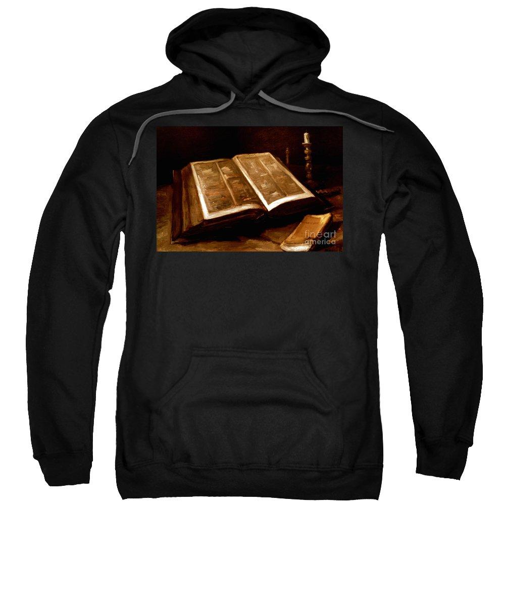 1885 Sweatshirt featuring the photograph Van Gogh: Bible, 1885 by Granger