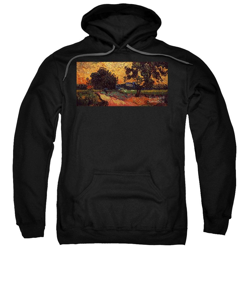 1890 Sweatshirt featuring the photograph Van Gogh: Castle, 1890 by Granger