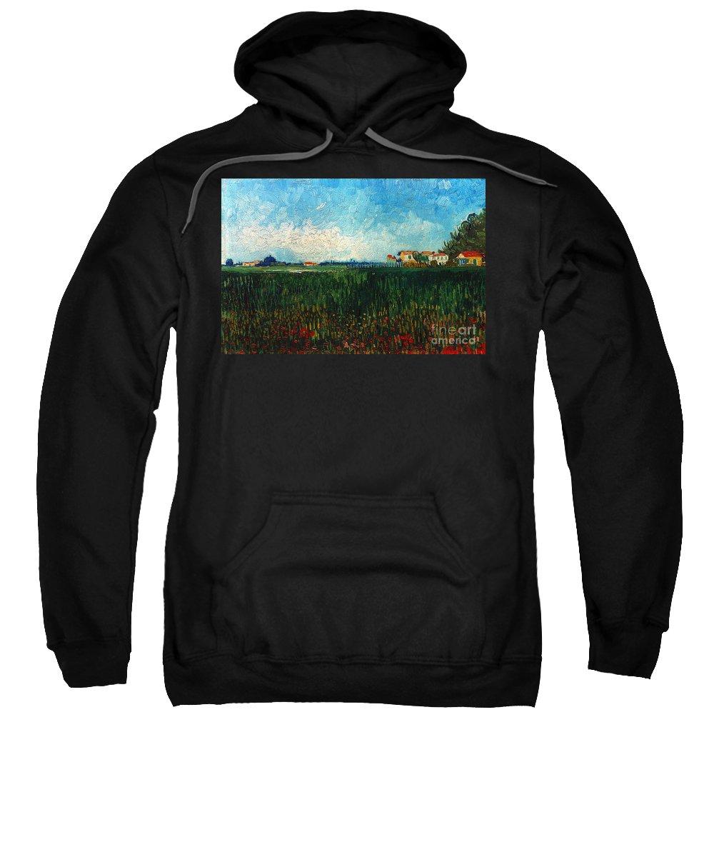1888 Sweatshirt featuring the photograph Van Gogh: Landscape, 1888 by Granger