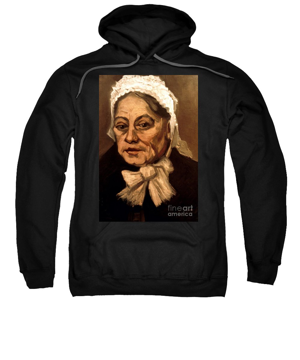 1885 Sweatshirt featuring the photograph Van Gogh: Midwife, 1885 by Granger