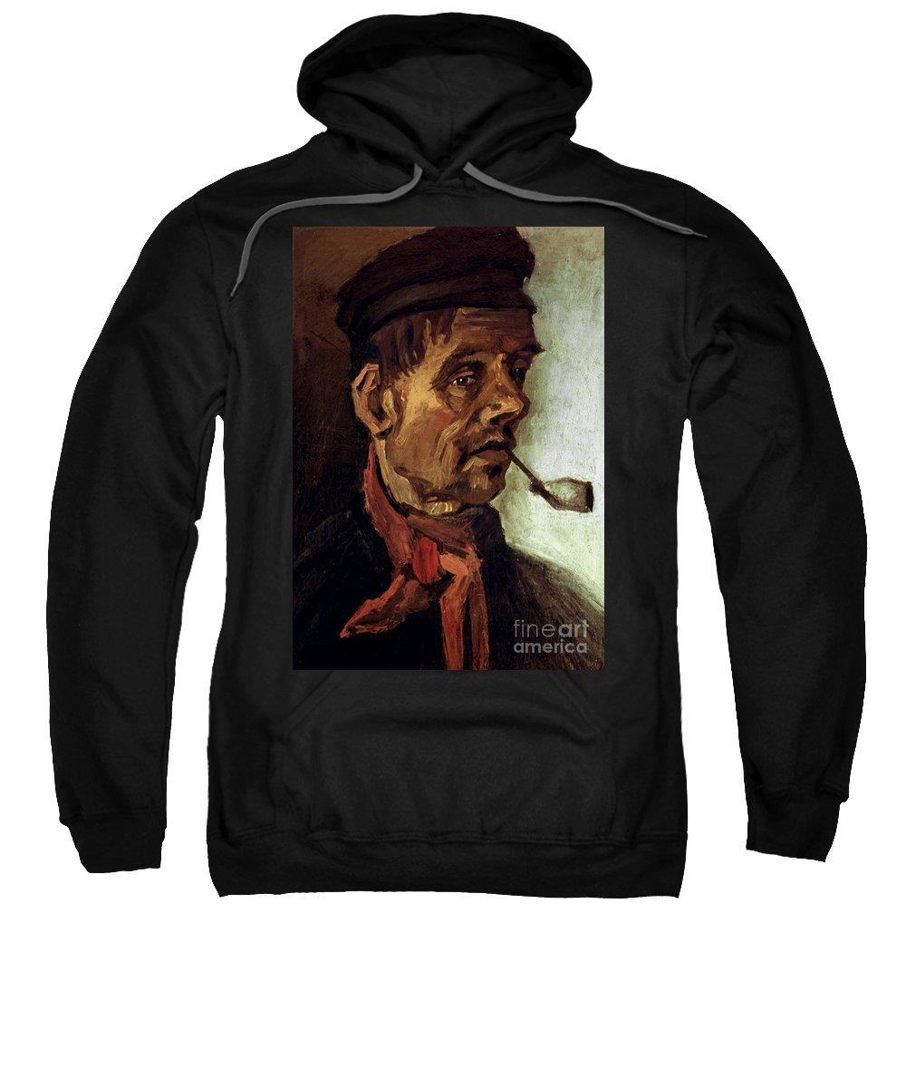 1884 Sweatshirt featuring the photograph Van Gogh: Peasant, 1884 by Granger